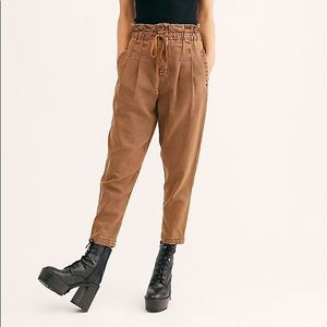 NWT Free People Margate Paper Bag Waist Pants